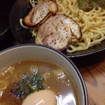 高田光幸 - 濃厚豚骨魚介つけめん+味玉 2015.7撮影