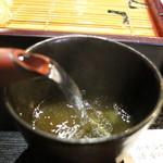旬彩庵 - 蕎麦湯