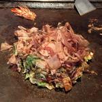 お好焼たこ壷 - 豚肉+海老+玉子