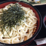 和食処清恵 - うどんと鮎の塩焼きセット