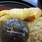 日本料理 松屋 - つけ合わせは、しいたけと糸こんにゃく。                             とっても上質でした。