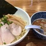 めんごころ なつ - つけ麺+さんま香味油(2015年7月)