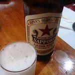 40287153 - サッポロ瓶ビール(大瓶、赤星) 572円
