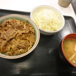神戸らんぷ亭 - 醤油牛丼(ミニ)+サラダ