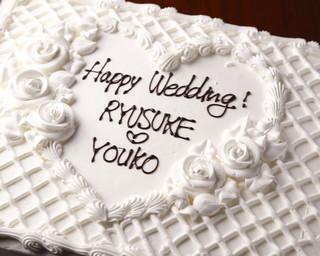 MUBU - ウェディング2次会にも♡お名前入り特大ケーキ(約40人様分)もご用意いたします(要予約)