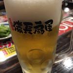 備長扇屋 - 生ビール