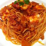 40295593 - モッツアレラチーズのスパゲティ・ミラネーズ