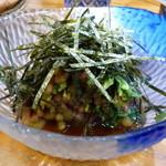 40296144 - ひょうのお浸し(200円)山菜のお浸しが、このボリュームで200円?!
