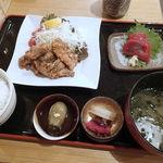 博多漁家磯貝  しらすくじら - くじらんち定食(ご飯お替り無料) 1500円