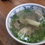 天ぷら ますい - ホルモン汁(小)