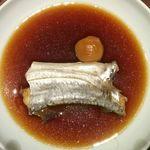 40302885 - 「おまかせ料理」の「タチウオ煮付け」。これはとてもおいしかったです。