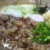 かっぱ亭 - 料理写真:特製うどん(海老天・山芋・肉)