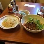 精陽軒 - 冷し坦々麺+半チャーハン