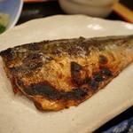 漁師めし 新浜 - 大きな鯖の味噌漬け