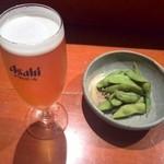 ひょうたん - お通し、ビール(小)