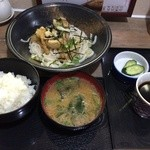 味佳乃 - 鶏天ぶっかけ定食780円(税込)