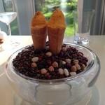 レストラン・アスペルジュ - 料理写真:人参のムースとサラダ