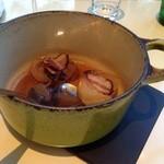 レストラン・アスペルジュ - メインの牛頬肉の、添えの温野菜