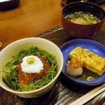 七福神 環 - イクラご飯、出汁巻き玉子、お椀