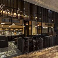 神戸六甲道・ぎゅんた - カウンター席5席 テーブル席8卓                      掘りごたつ式のお座敷席 4卓がございます。