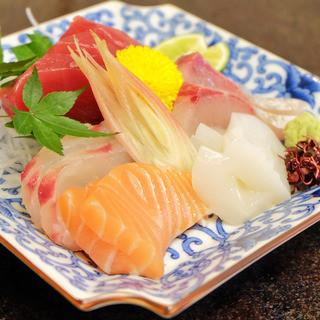 市場直産の魚介類