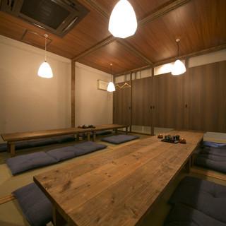 完全個室完備☆少人数から50名様までの宴会が可能です