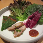 40332528 - キムチチャーハンセット ニラチジミ・ポッサム・葉物野菜