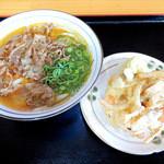 太郎うどん - 肉うどんとかき揚げ
