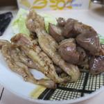 霧島の豚鳥店 - あみ焼き(鶏) セセリと砂肝