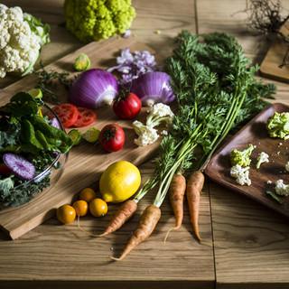 自社農園で育った新鮮な野菜を堪能できる!