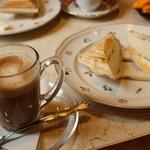 純喫茶 和光 - カフェラッテ+ハム&エッグ