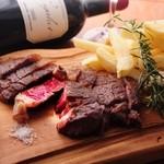 ビストロ・アヴリル - フランス産シャロレ牛の熟成肉のロースト 本気のフライドポテト添え 2400円