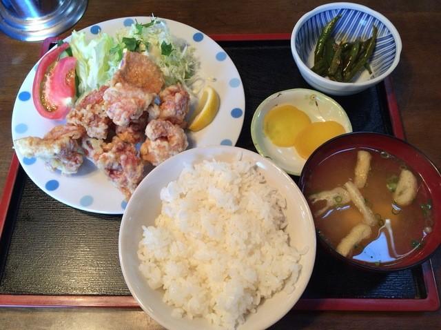 秋桜 - から揚げ定食 800円