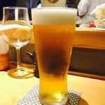 藤もと - 仕事終わりのビールは旨いのよね~!