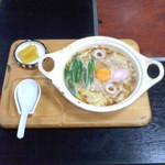 なかがわ - なかがわ(高知県須崎市)鍋焼ラーメン550円