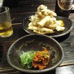 山元麺蔵 - トッピング土ごぼうの天ぷら