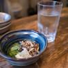 兵吾 - 料理写真:日本酒 風の森 秋津穂 と 鱧皮胡瓜
