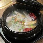 炭火焼肉まうみ - 「サムゲタンスープ(\840)」。
