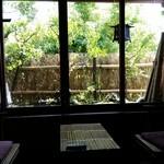 割烹竹万 - 個室からの眺め
