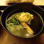懐石料理 桝田 - 御椀(毛蟹しんじょう、ヤングコーン)