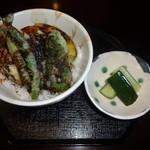 そばの心 志茂部 - ミニ野菜天丼(600円)