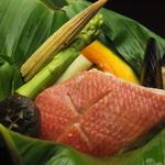 ちゃんと。 - 赤魚と野菜のセイロ蒸し 750円
