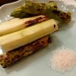 食楽酒 なおづ - ☆アスパラ炭火焼  大きな太めのアスパラをサラダ感覚で頂きました。
