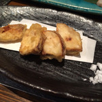 和おん - 椎茸の軸は天ぷらにしてくれした♪