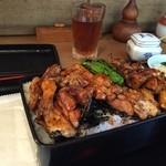 おが和 - 焼き鳥重1,000円。