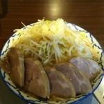 らーめん浜八道 - 醤油とんこつ 中盛 チャーシュートッピング 野菜マシ ニンニク少なめ アブラ少なめ