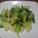梅蘭 - 松茸とチンゲン菜の炒め物