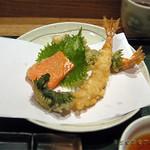 40373170 - 天茶セットの天ぷら・・これに野菜天も付きます