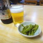 40373253 - 瓶ビールとお通し