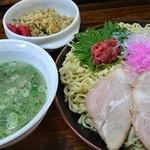 40374295 - アサリつけ麺(大)、暑い時期のつけ麺最高♪